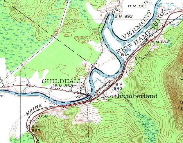 Loading map of Northumberland, NH