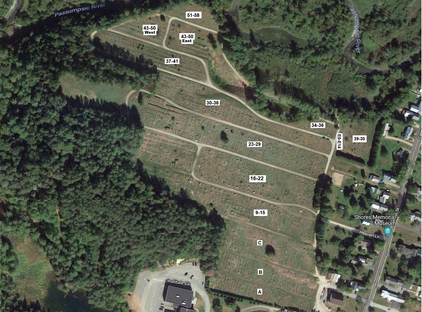 Lyndon Center Cemetery Map